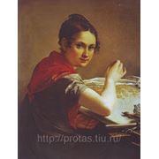 Художник Тропинин Кружевница 1823г холст масло, изобразительное искусство, продажа картин фото