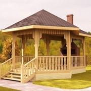 Беседка деревянная садовая фото
