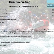Rafting, Chilik river фото