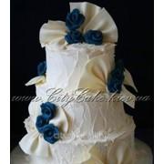 Торт свадебный №0451 код товара: 1-0451 фото