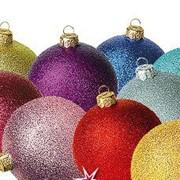 Набор шаров Morozko Радужный d85 3шт фиолет (1/12) фото