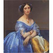 Жан Огюст Доминик Энгр Портрет принцессы Альбер де Броли- великий художник фото