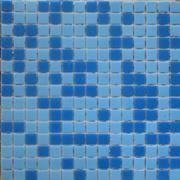 Мозаика стеклянная синяя 2 цвета