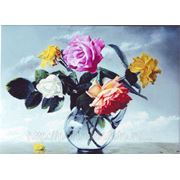 Натюрморт роз, акварель, фото