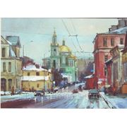 Старая Москва, акварельная живопись фото