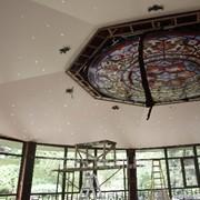 Натяжной потолок Белый матовый и сатин MSD фото