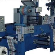 Флексографическая машина 8-ми красочная узкорулонная ФДР-420/8М Киевфлекс с центральным печатным цилиндром для нанесения многокрасочного изображения на рулонный материал шириной до 420 мм.подробнее фото