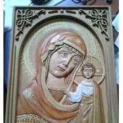 Икона деревянная с узором фото