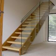 Ограждение для лестниц из закаленного стекла фото