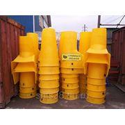 Рукав для выброса строительного мусора. Секция с цепями фото