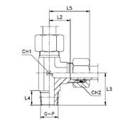 Штуцер ввертный F / L-образный, уплотнение тип С Тип: 1031…4 кольцо B4 фото