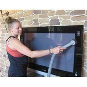Специализированные работы по уборке: зеркалаокна плазменные телевизоры фото