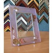 Фоторамки на стекле с витражным рисунком фото
