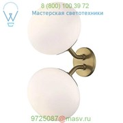 Estee Double Wall Sconce (Aged Brass) - OPEN BOX RETURN OB-H134102-AGB Mitzi - Hudson Valley фото