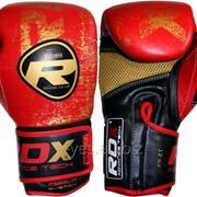 Боксерские перчатки RDX Ultra Gold Red фото