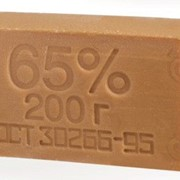 Мыло хозяйственное 65%, 200гр без запаха (48шт/кор) фото