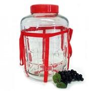 Бутыль (банка) стеклянная 10 литров (с гидрозатвором) фото