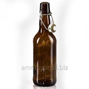 Стеклянная пивная бутылка Докер 0.5 л с бугельной пробкой фото