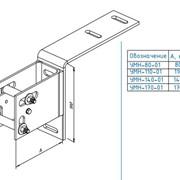 Напольный неподвижный стальной монтажный узел для крепления к перекрытию УМН-80-01 фото