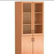 Шкаф для документов со стеклом (1900х340х840) фото