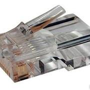 Коннектор RJ-45 (8p8c) для одножильного и многожильного кабеля (100шт) фото