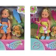 Кукла Еви на скутере + скейт и собачка 2 в 5732295 фото