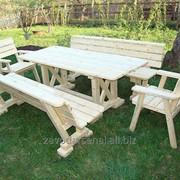 Изготовление деревянной части для садовой мебели фото