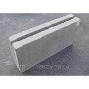 Блок бетонный пустотелый перегородочный 390х80х188 фото