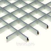 Потолок подвесной ГРИЛЬЯТО алюминий серебристый фото