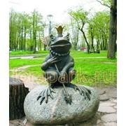 Фигура садово-парковая лягушка-царевна на камне фото