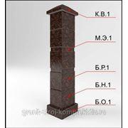 Блок-столб из камня опорный малый для каменного ограждения фото