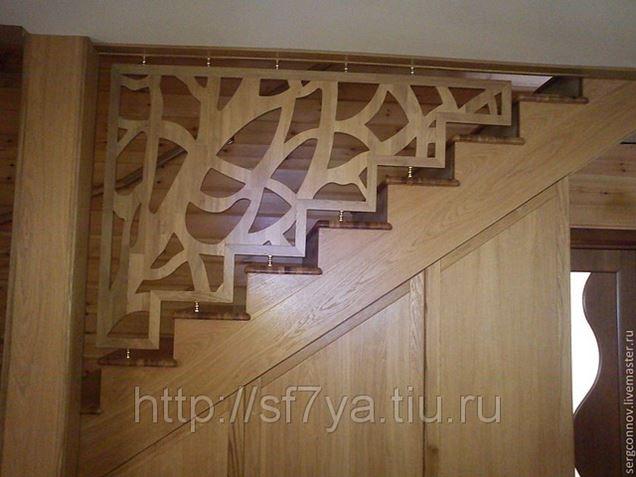 Отделка бетонной лестницы деревом, дуб от 160 000 руб