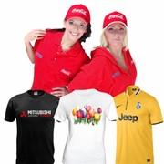 Шелкография - нанесение логотипа на футболки фото