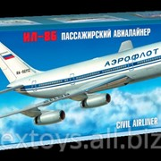 Звезда 7001, Пассажирский авиалайнер Ил-86 (масштаб 1144) фото