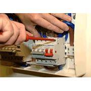 Установка электрического оборудования фото