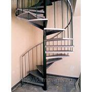 Лестница наружная винтовая из металла фото