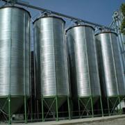Емкости для хранения зерновых с конусным днищем фото