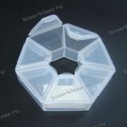 Бисер контейнер из полупрозрачного пластика фото
