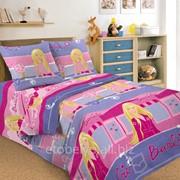 Комплект постельного белья 1,5 СПАЛЬНЫЙ ПЕРКАЛЬ 50 Х 70 Барби фото