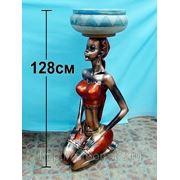 """Декоративная композиция """"африканка с чашей"""" h=128см (767165) фото"""