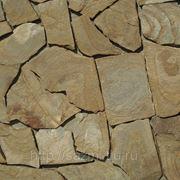Песчаник желтый с разводами,толщина 15-30 мм фото