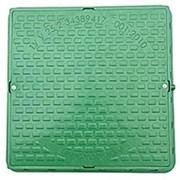 Люк садовый квадратный 1,0т. зеленый, черный  фото