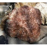Мрамор бутовый красный с белыми прожилками 100-200 кг фото