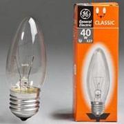 Лампа GE 40C1/CL/E27 74396 свеча /100/ фото
