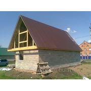 Строительство, монтаж кровли и вентилируемого фасада фото
