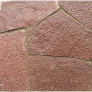 Лемезит (доломит) бордовый для облицовки стен и дорожек. фото