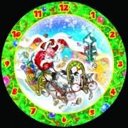 Сборная пазл-игрушка Часы Новогодняя тройка (с часовым мех.) фото