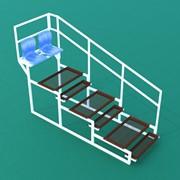 Подъем 4х-ярусный (2 места) с пластиковыми сиденьями и с перилами ПЗПП-4-2 фото