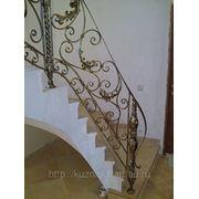 Ограждение лестницы художественная ковка фото