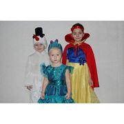 карнавальный костюмы: белоснежка снеговик и хлопушка фото